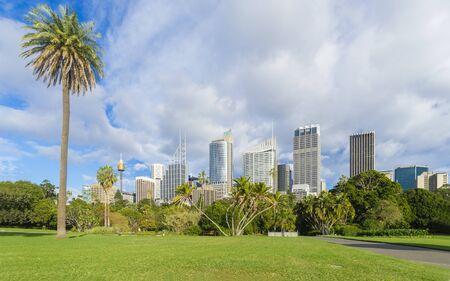 View of Royal Botanic Garden with cityscape of Sydney, Australia during daytime Stock Photo - 61934554
