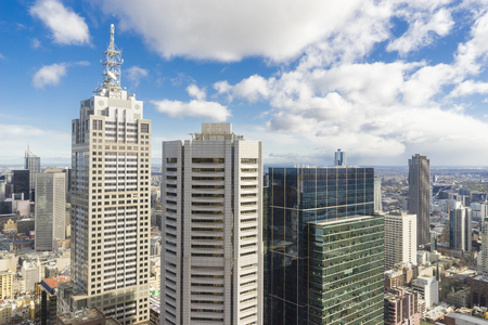 Melbourne skyline with modern buildings during daytime