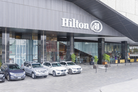 Melbourne, Australia - July 29, 2016: View of Hilton Hotel situated in Melbourne's South Wharf precinct during daytime. Stock Photo - 62165850