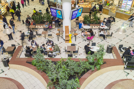 Melbourne, Australia - September 4, 2015: People dining in food court in Box Hill Central Shopping Centre in Melbourne. Stock Photo - 62870909