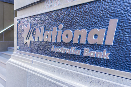 Sydney, Australia - June 26, 2016: Close-up of National Australia Bank signage. NAB is one of the four largest banks in Australia. Stock Photo - 62870914