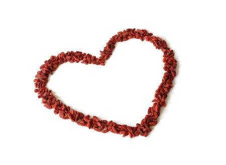 goji: Goji Berries Shaped into Heart