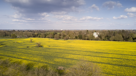 the arable land: Aerial view of fields near Windsor Castle