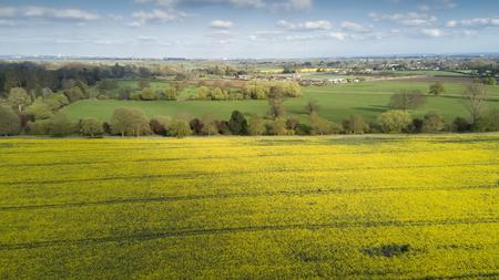 Birds view of fields near Windsor Castle