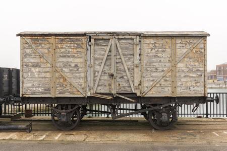 Old ancient englishbritish railway wagon