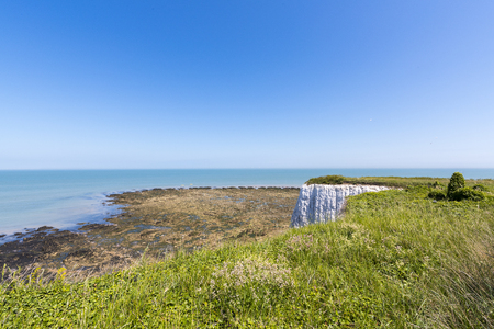 manche: Botany Bay sea view from a cliff, Kent, UK