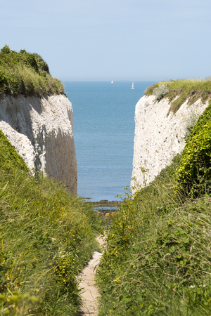 manche: A view between to white cliffs Stock Photo