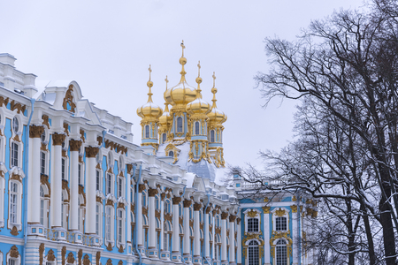 The Catherine Palace with The Church of the Resurrection. The Tsarskoye Selo is State Museum-Preserve. Located near Saint-Petersburg