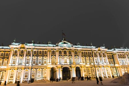 Winter Palace Hermitage St Petersburg at night