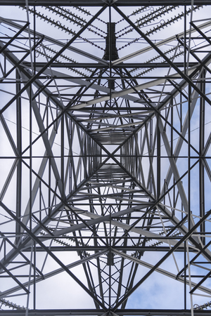 Transmission tower electricity pylon in the United Kingdom