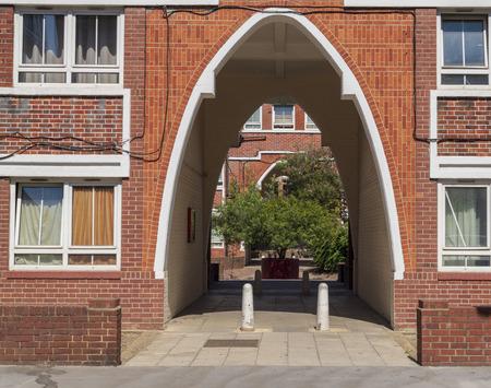 Bermondsey council housing estate Leathermarket JMB block of flats London