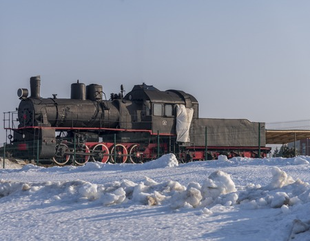 Armoured steam engine, Military vehicles, Historic cultural complex Imagens