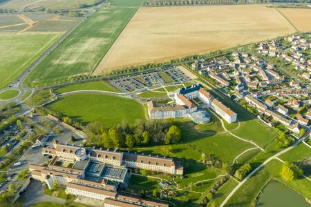 Aerial view of Magny-le-Hongre, France