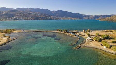 Aerial view of Spinalonga Island, Crete, Greece