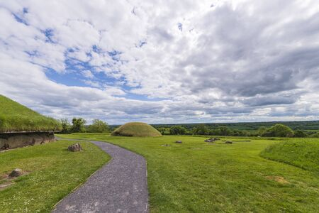 Knowth Neolithic Passage Mound Tombs in Boyne Valley, Ireland