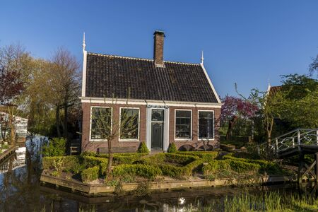 Old dutch houses in old dutch village, holland the netherlands.