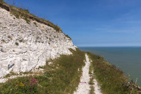 View at white cliffs of Dover, Great Britain