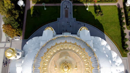 Aerial view of Orthodox Naval Cathedral of St. Nicholas. Built in 1903-1913. Kronshtadt, St.Petersburg, Russia 스톡 콘텐츠