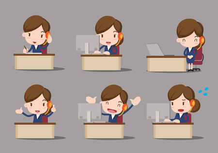 receptionists: business character - customer service