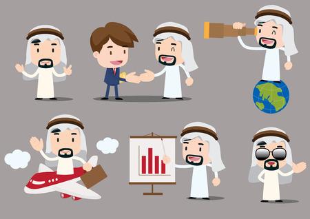 arab adult: businessman series - arab Illustration