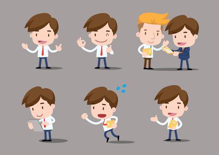 hombres ejecutivos: Serie de negocios - hombre salario
