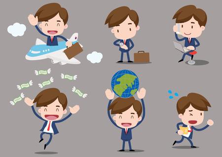 viaje de negocios: serie de Empresario - viaje de negocios Vectores