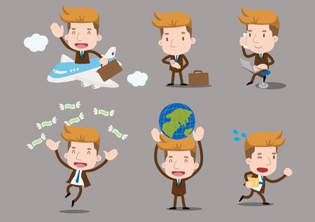 viaje de negocios: Serie de negocios - conjunto viaje de negocios
