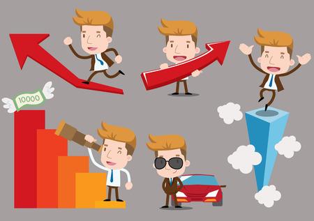 Businessman series - success set Vector