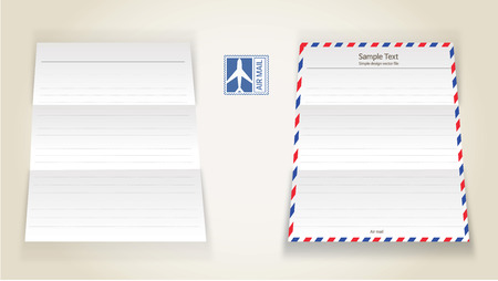 Air mail letter 일러스트