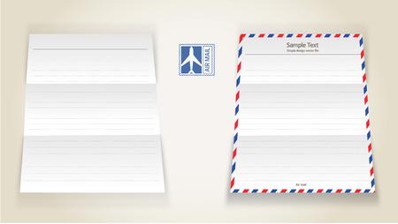 Air mail letter Çizim