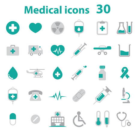 Medical Icons - color 向量圖像