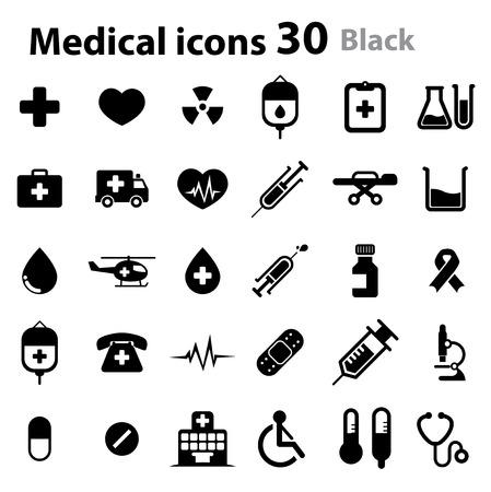 Medical Icons - black