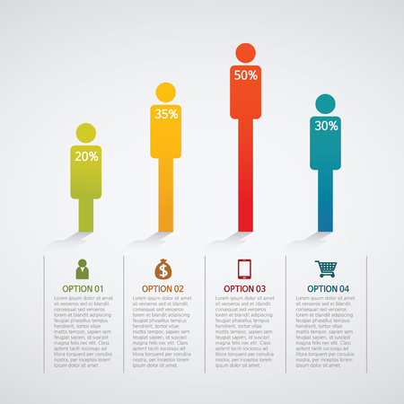 info graphics - colorful graph, people