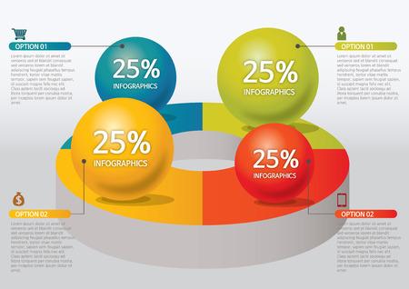 venn: info-graphic - sphere style - percentage, circle