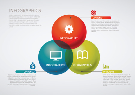 info graphics - Venn diagram Vector