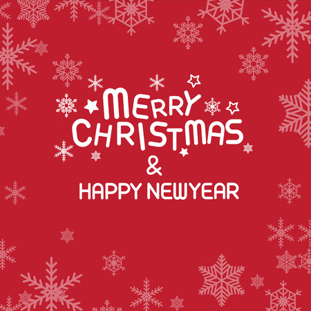 newyear card: Merry christmas , vector lettering Illustration