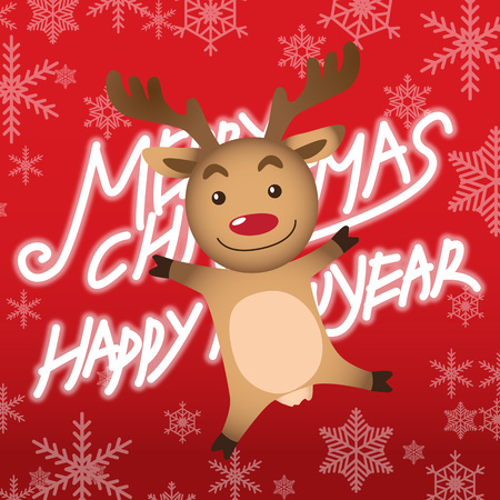 Merry christmas and happy new year, rudolph