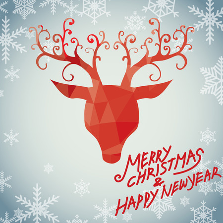 Merry christmas and happy new year, luxury rudolph