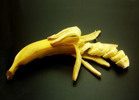 bananas: The big yellow ripe fragrant fresh sweet banana