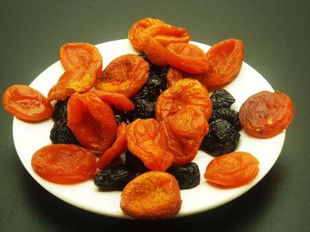apricot kernels: Sweet honey prunes and orange fragrant apricot for fruit salad