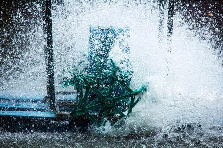 water turbine: water turbine, close up