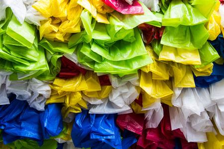 Decorate plastic bag layer background photo