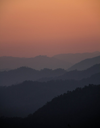Scenery Mountain range  Mae Hong Son  Thailand photo