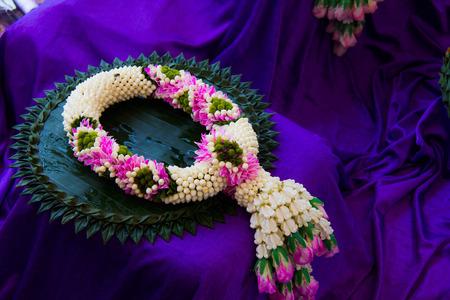 Flower garlands of thai style photo