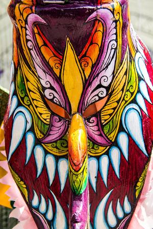 BANGKOK, THAILAND - APRIL 20  bamboo wear costumes at Ghost  is on display at Thailand cultural festival on April 20, 2014 in Bangkok