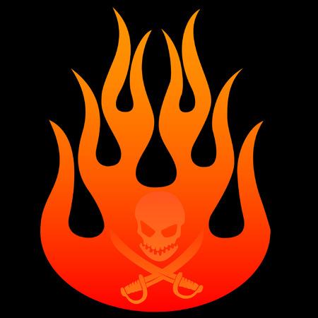 flame illustration Vector
