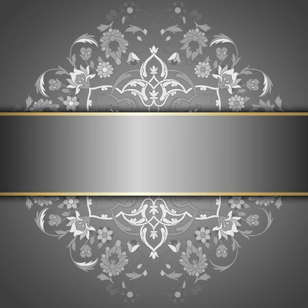 aristocratically: Vintage template with pattern and ornate borders. Ornamental lace pattern for invitation, greeting card, certificate.