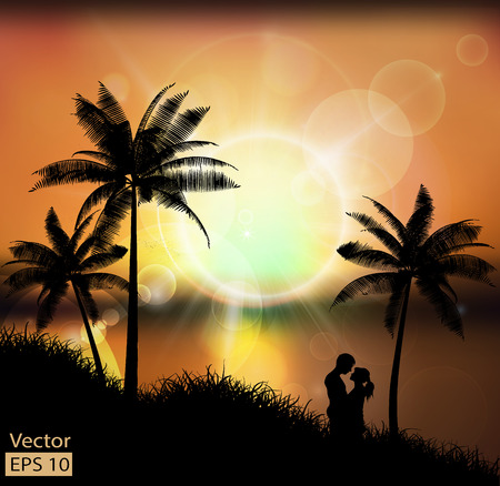 abstract background with sunset