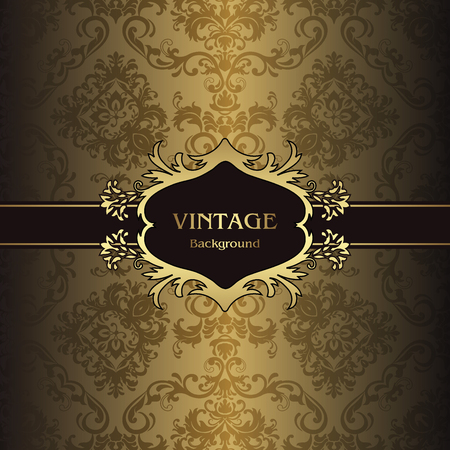 Classic swirl and curves style background of pattern vintage vector illustration 일러스트