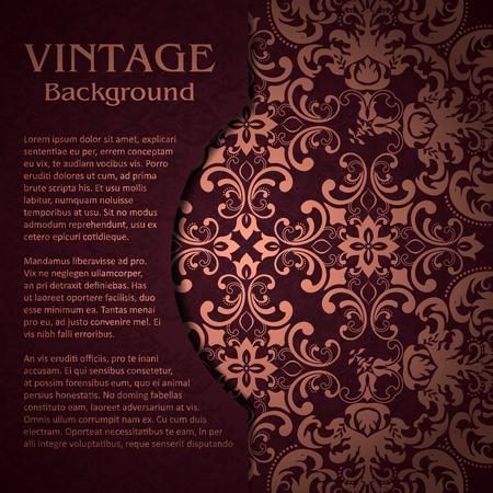 background of vintage pattern Illusztráció